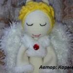 Белый ангел амигуруми крючком: схема