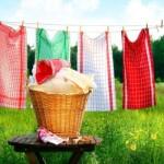 Как отстирать кухонные полотенца от различных пятен