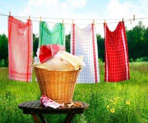 Як випрати кухонні рушники