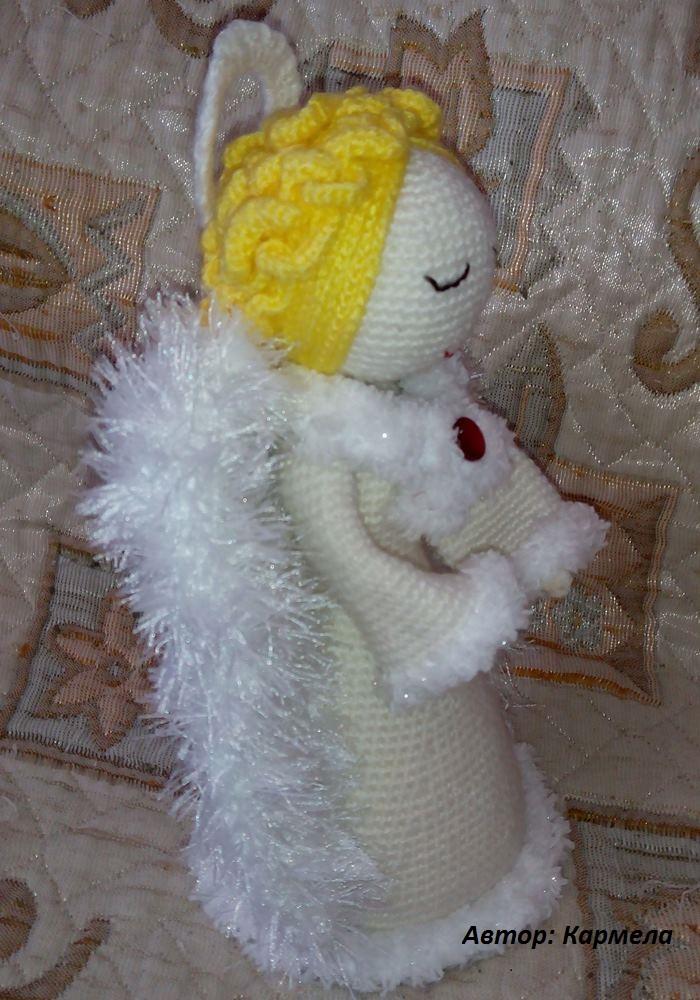 ангел амигуруми