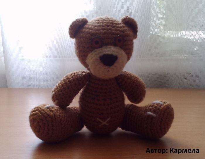 амигуруми медведь