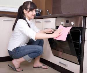 как почистить духовку от жира