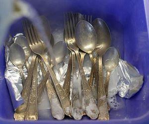 как почистить столовое серебро