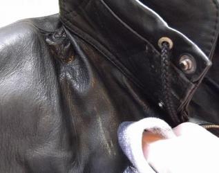 чистка пятен на кожаной куртке