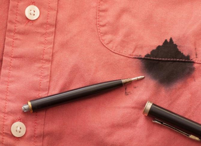 Как вывести пятно от стержня ручки фото