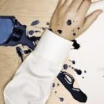 Как вывести чернила с одежды