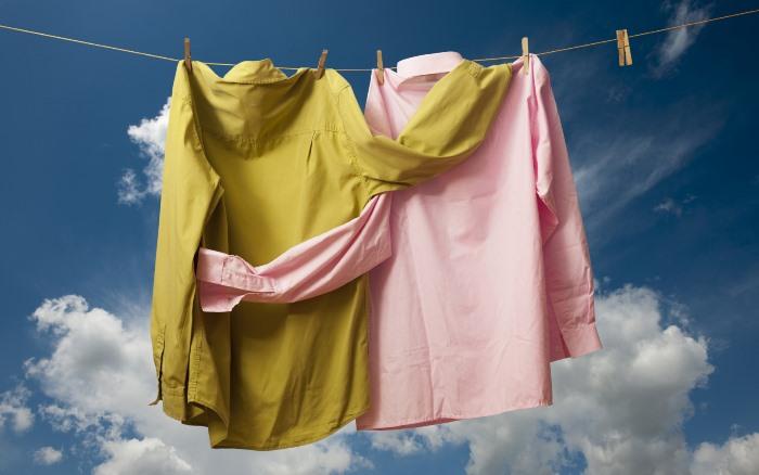 сушить рубашку