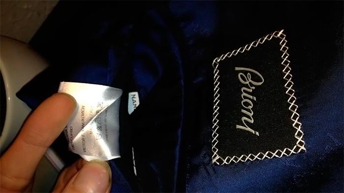 Режимы стирки пиджака на бирке