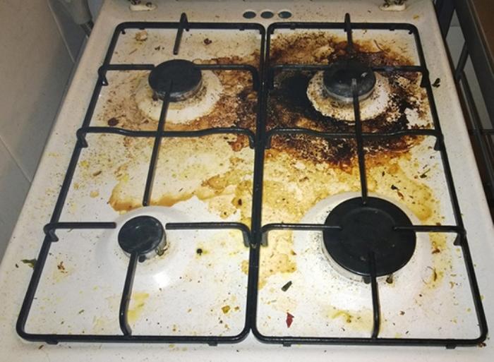 как чистить газовую плиту