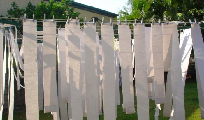 как сушить ламели штор
