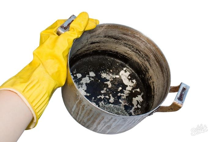 как отмыть алюминиевую кастрюлю