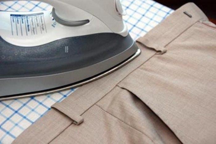 Как погладить брюки со стрелками