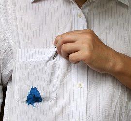 Як відіпрати ручку з білої сорочки