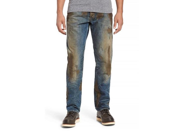как отстирать машинное масло с джинсов