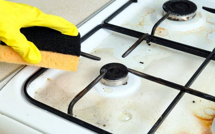 как помыть газовую плиту