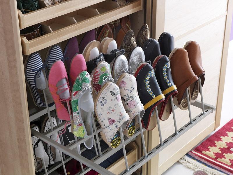 де зберігати взуття в маленькій квартирі